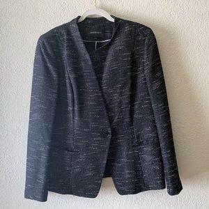 Lafayette 148 Textured Asymmetrical Blazer Jacket